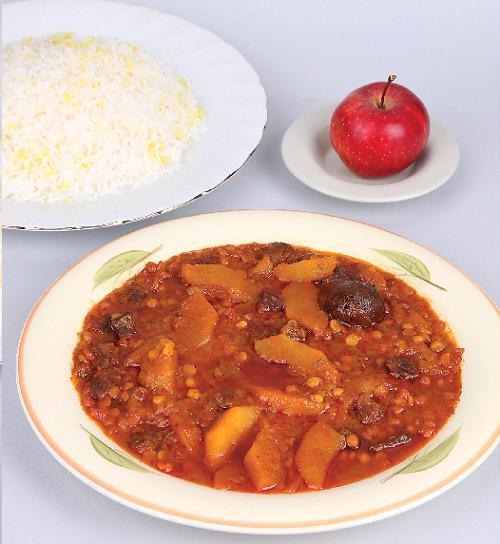 طرز کوبیدن زردچوبه آشپزی - خورش سیب